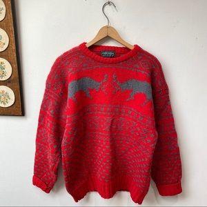 Vintage Shetland Wool Chunky Knit Sweaters